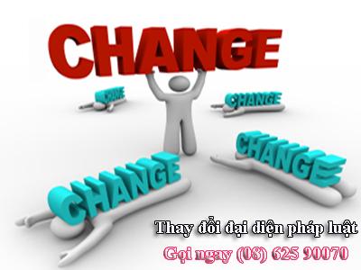 Dịch vụ thay đổi đại diện công ty trên giấy phép