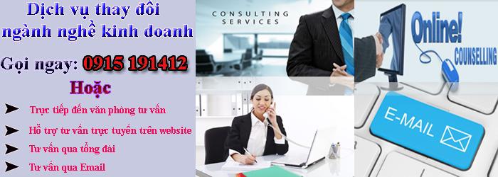 Tư vấn đăng ký thay đổi ngành nghề kinh doanh